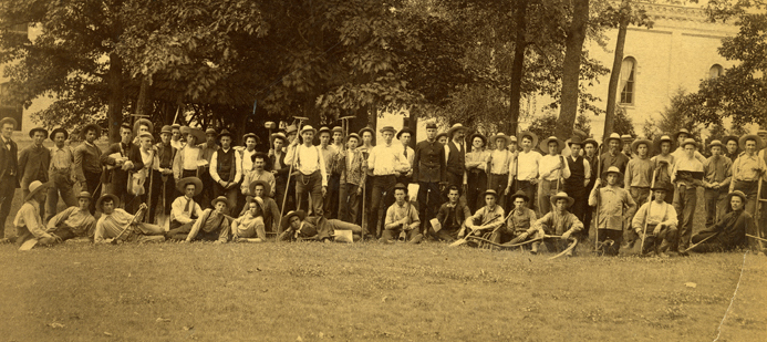Horticultural Labor, Summer 1886. Image Courtesy of the Michigan State University Archives and Historical Collections